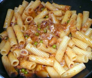 tortiglioniRagFunghiPiselli